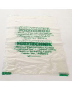Spänefangsack, für Filteranlagen, Tonne rund, Einweg, Transparent/GRÜN