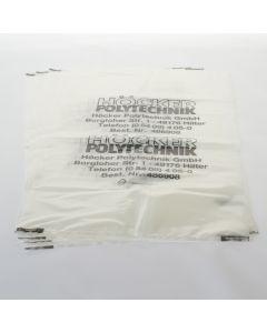 Spänefangsack, für Filteranlagen und Entstauber, Tonne eckig, Mehrweg, Transparent/SCHWARZ